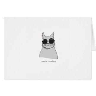 """Graue """"coole Katze"""" Valentinstagkarte Karte"""