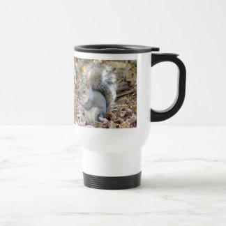 Graue Eichhörnchen-Tier-Tasse Edelstahl Thermotasse