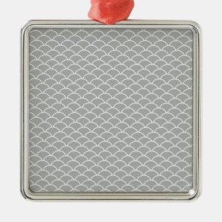 Graue Fisch-Skalen Silbernes Ornament