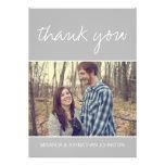 Graue Foto-Hochzeit danken Ihnen Karten Personalisierte Ankündigungskarten