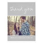 Graue Foto-Hochzeit danken Ihnen Karten 12,7 X 17,8 Cm Einladungskarte