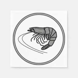 Graue Garnele - Fisch-Garnelen-Krabben-Sammlung Serviette