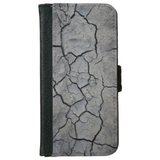Graue gebrochene Erde Geldbeutel Hülle Für Das iPhone 6/6s