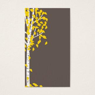 Graue gelbe Aspen-Baum-Visitenkarten Visitenkarte