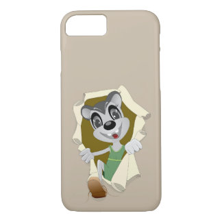 Graue glückliche Maus im Mousehole-Telefon-Fall iPhone 8/7 Hülle