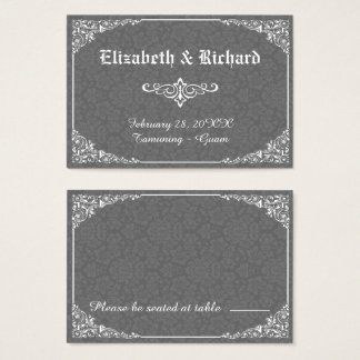 Graue gotische viktorianische visitenkarte