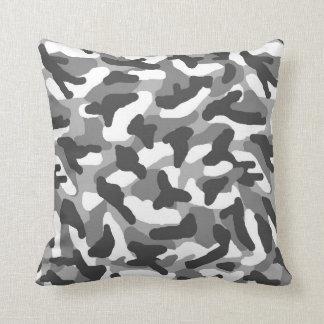 Graue graue Camouflage-Tarnung Kissen