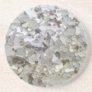 Graue graue Platane-Barke Sandstein Untersetzer