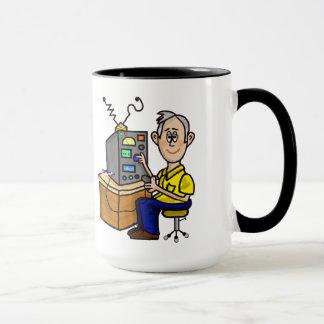Graue Haar-Schinken-Radiobetreiber-Tasse fertigen Tasse