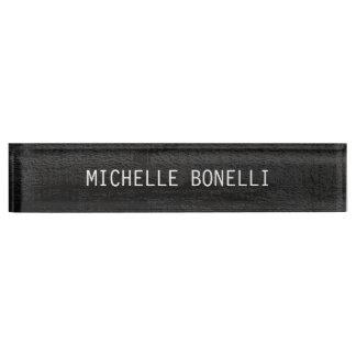 Graue Hintergrund-Ebenen-lesbares modernes Schreibtischplakette