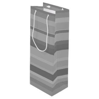 Graue horizontale Streifen Geschenktüte Für Weinflaschen