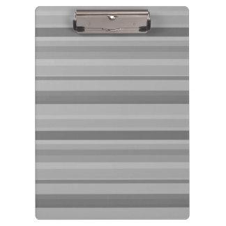 Graue horizontale Streifen Klemmbrett
