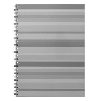 Graue horizontale Streifen Notizblock