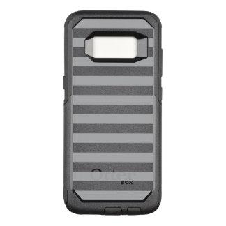 Graue horizontale Streifen OtterBox Commuter Samsung Galaxy S8 Hülle