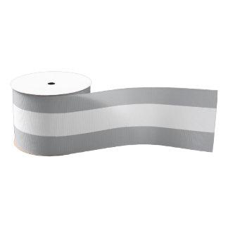 Graue horizontale Streifen Ripsband