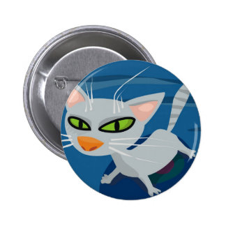 Graue Katze Anstecknadelbutton