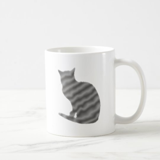 graue Katze cat gray grey Kaffeetasse