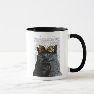 Graue Katze mit Leopard-Bogen Tasse