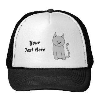 Graue Katzen-Karikatur Tuckercaps
