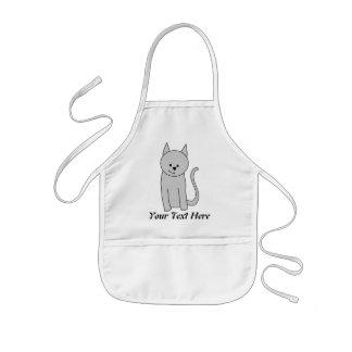 Graue Katzen-Karikatur Kinderschürze