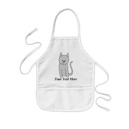 Graue Katzen-Karikatur Schürzen