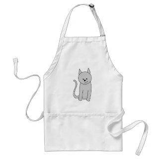 Graue Katzen-Karikatur Schürze