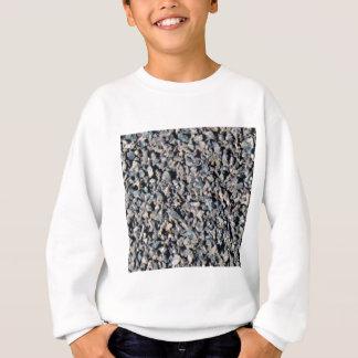 graue Kiesbeschaffenheit Sweatshirt