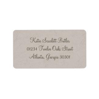 Graue kleine Adressen-Etiketten Prinz-Babyparty Adressetiketten