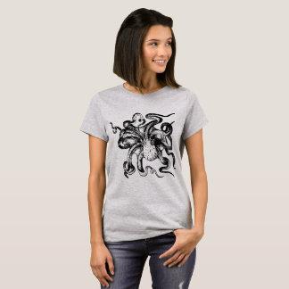 Graue Krake T-Shirt