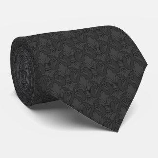 Graue Lilien-Muster-Krawatte Personalisierte Krawatten