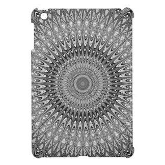 Graue Mandala iPad Mini Hülle