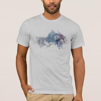 Graue moderne Tinte Fox T-Shirt