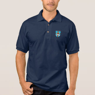 Graue Mönch-Polo Polo Shirt