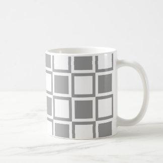 Graue mutige Mod-Quadrate Kaffeetasse