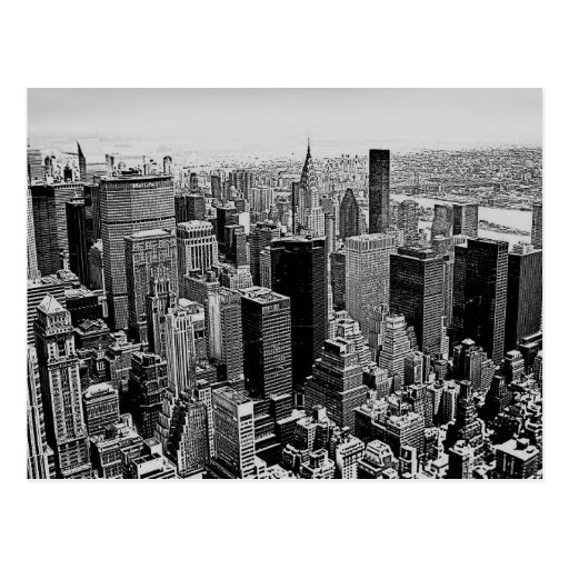 Graue New- York Citynachtpostkarte Postkarten