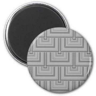 Graue Quadratskalen Runder Magnet 5,7 Cm