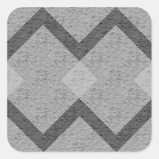 graue Raute Quadratischer Aufkleber