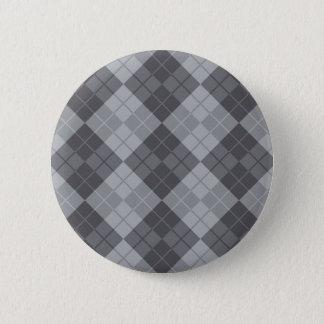 Graue Raute Runder Button 5,7 Cm