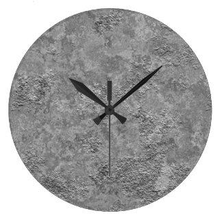 Graue rohe Beton-/Zement-industrielle Uhr