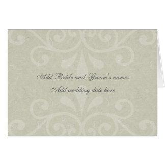 Graue Rolle-formale Hochzeits-Einladung Karte