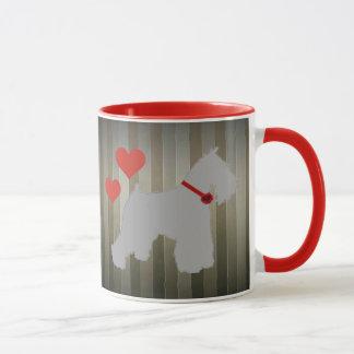 Graue (Salz und Pfeffer) Schnauzer-Kaffee-Tasse Tasse
