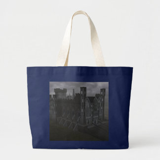 Graue Schloss-Taschen-Tasche Jumbo Stoffbeutel