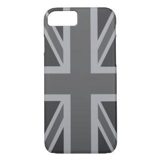 Graue schwarze klassische Flagge iPhone 8/7 Hülle