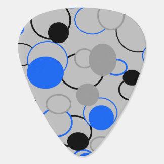 Graue schwarze und blaue Blasen Gitarren-Pick