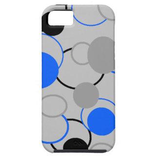 Graue, schwarze und blaue Blasen iPhone 5 Etui