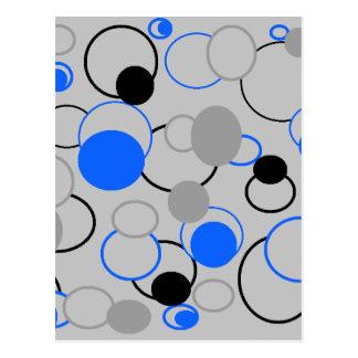 Graue, schwarze und blaue Blasen Postkarte
