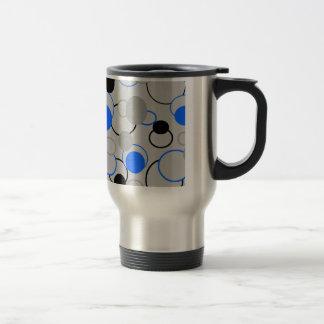 Graue, schwarze und blaue Blasen Tassen