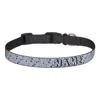 Graue schwarze und blaue Blasen Hundehalsband