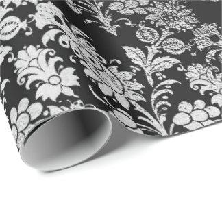 Graue silberne schwarze Folien-elegantes mit Geschenkpapier