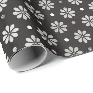 Graue silberne schwarze geschenkpapier